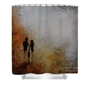 Three Of Us  Shower Curtain