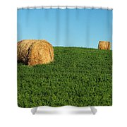 Three Old Bales Shower Curtain