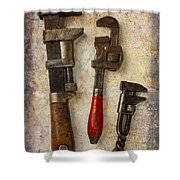 Three Old Worn Wrenches Shower Curtain