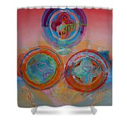 Three On Marine Shower Curtain