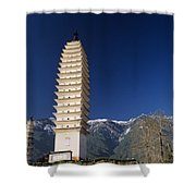 Three Pagodas Shower Curtain