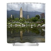 Three Pagodas Of Dali Shower Curtain
