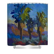 Three Palms At Palm Desert Shower Curtain
