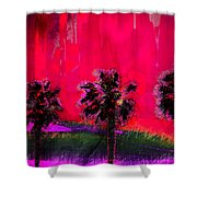 Three Palms II Shower Curtain