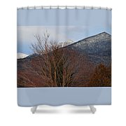 Three Peaks In Winter Shower Curtain