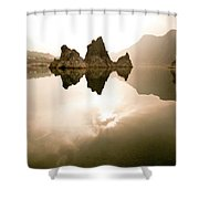 Three Peaks  Shower Curtain
