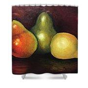 Three Pears  Shower Curtain