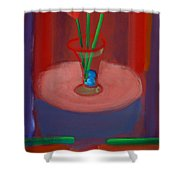 Three Poppies In A Vase Shower Curtain