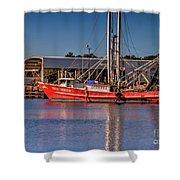 Three Princess Schrimpboat Shower Curtain
