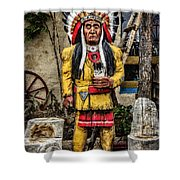 Three Rivers Indian Shower Curtain
