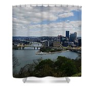 Three Rivers Shower Curtain