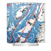 Three Roads And Four Islands Shower Curtain