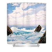 Three Rocks Shower Curtain