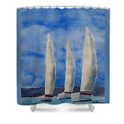 Three Sails Shower Curtain
