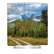 Three Sisters And A Dirt Road Shower Curtain