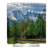 Three Sisters And The Railroad Shower Curtain