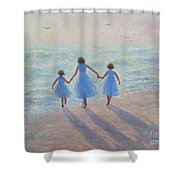 Three Sisters Beach Shower Curtain