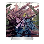 Three Sisters In Sedona Shower Curtain