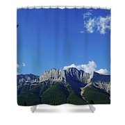 Three Sisters Ridges Canmore Alberta Gateway To Banff National Park Shower Curtain