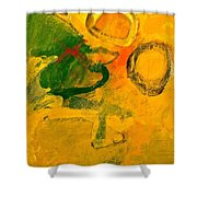 Three Sisters With Autum's Child  Shower Curtain