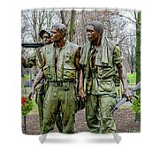 Three Soldiers Memorial Shower Curtain
