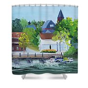 Three Spires Shower Curtain