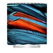 Three Sport Car Hoods Abstract Shower Curtain