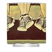 Three Stooges Shower Curtain