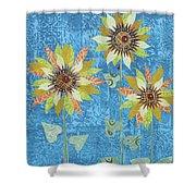 Three Sunflowers Shower Curtain