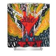 Three Swords Of 2016 Shower Curtain