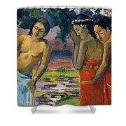 Three Tahitian Women Shower Curtain