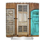 Three Taos Doors Shower Curtain