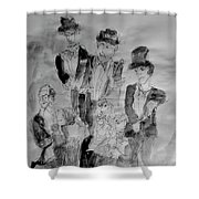 Three Tenors And A Pianist Shower Curtain