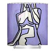 Three Shower Curtain by Thomas Valentine