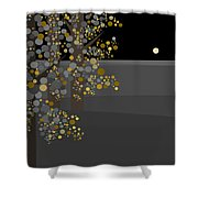 Three Trees In The Moonlight Shower Curtain