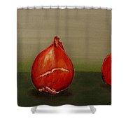 Three Tulip Bulbs Shower Curtain