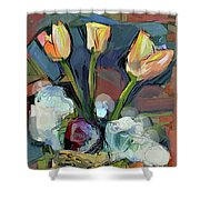 Three Tulips Shower Curtain