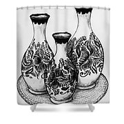 Three Vases Shower Curtain