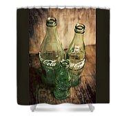 Three Vintage Coca Cola Bottles  Shower Curtain