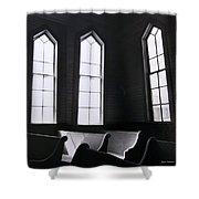 Three Window Church Shower Curtain