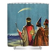 Three Wise Men Shower Curtain by English School