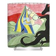 Three Wise Swans  Shower Curtain