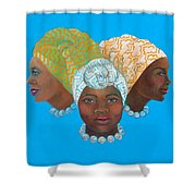 Three Women Shower Curtain
