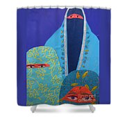Three Women In Burkhas Shower Curtain