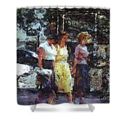 Three Women In Town Shower Curtain