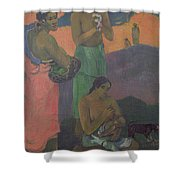 Three Women On The Seashore Shower Curtain by Paul Gauguin