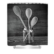 Three Wooden Spoons Shower Curtain