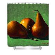 Three Yellow Pears Shower Curtain