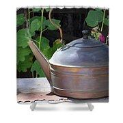 Thrift Store Teapot Shower Curtain