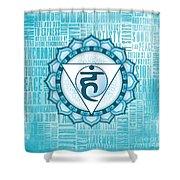 Throat Chakra - Awareness Shower Curtain